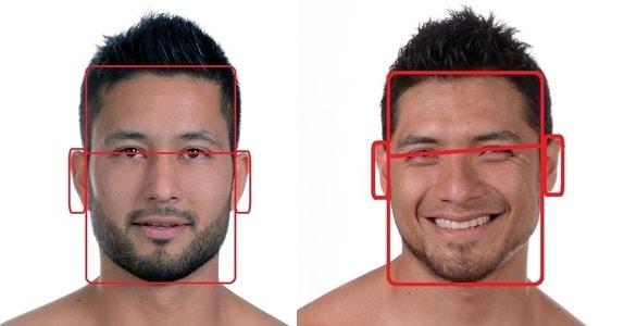 男性顔の特徴